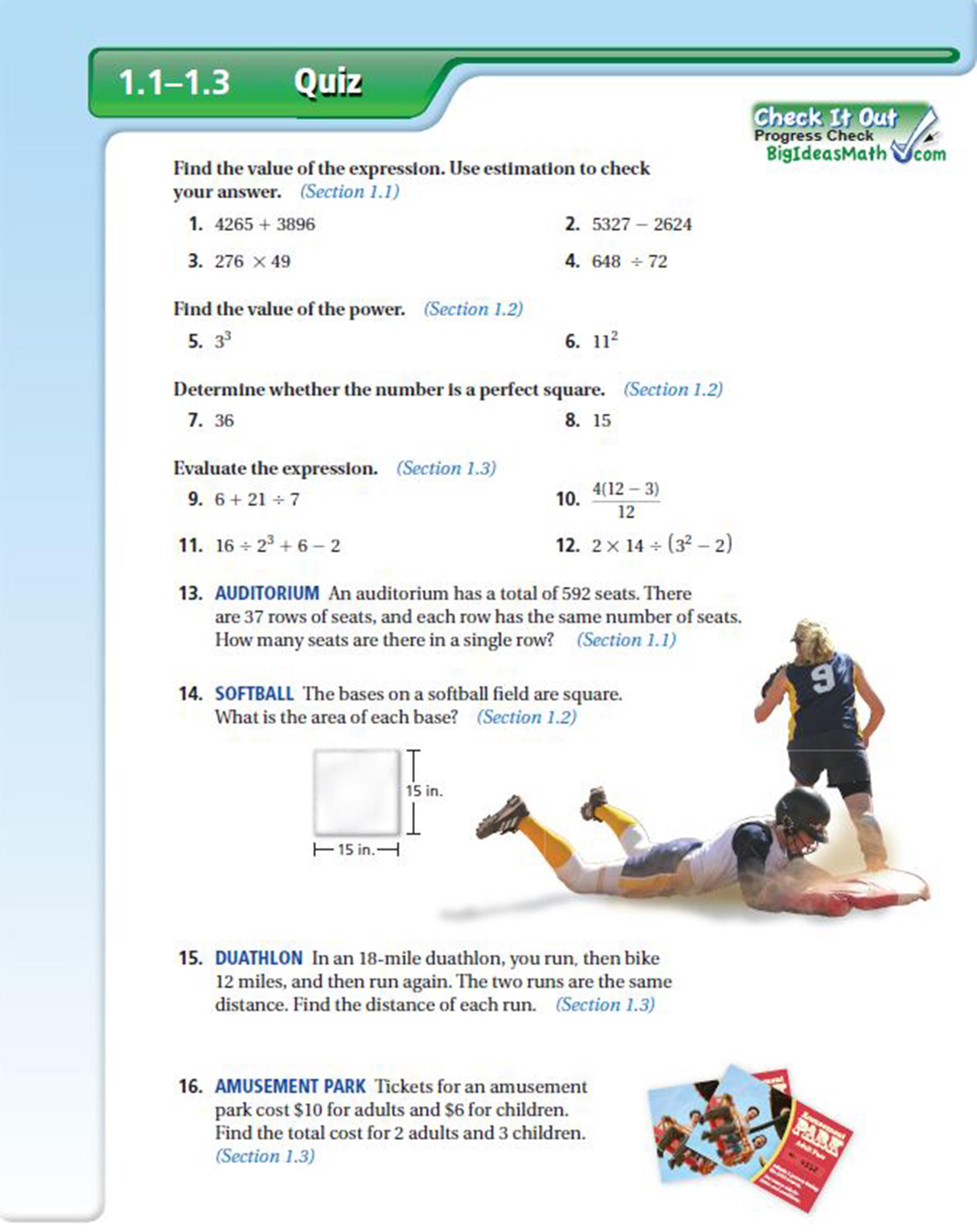 The Mid-Chapter Quiz – Big Ideas Math